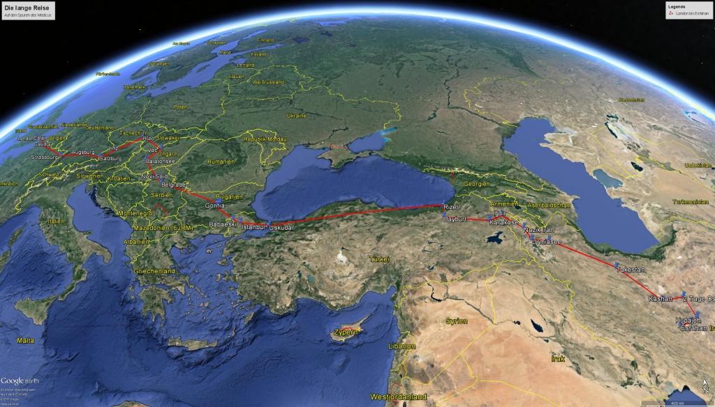 London - Isfahan Luftlinie