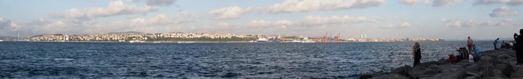 Blick über Bosporus Richtung Asien