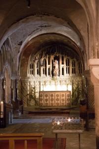 Krypta in der Kathedrale von Canterbury